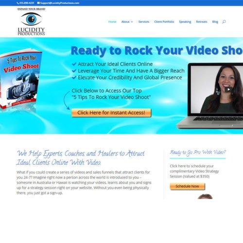 wordpress site for video company
