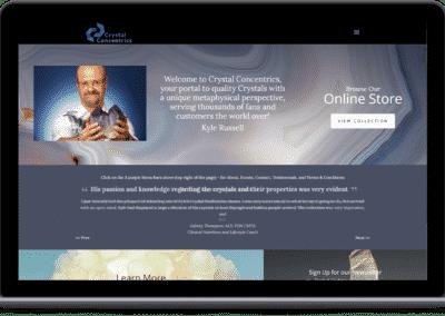 Crystal Shop Website